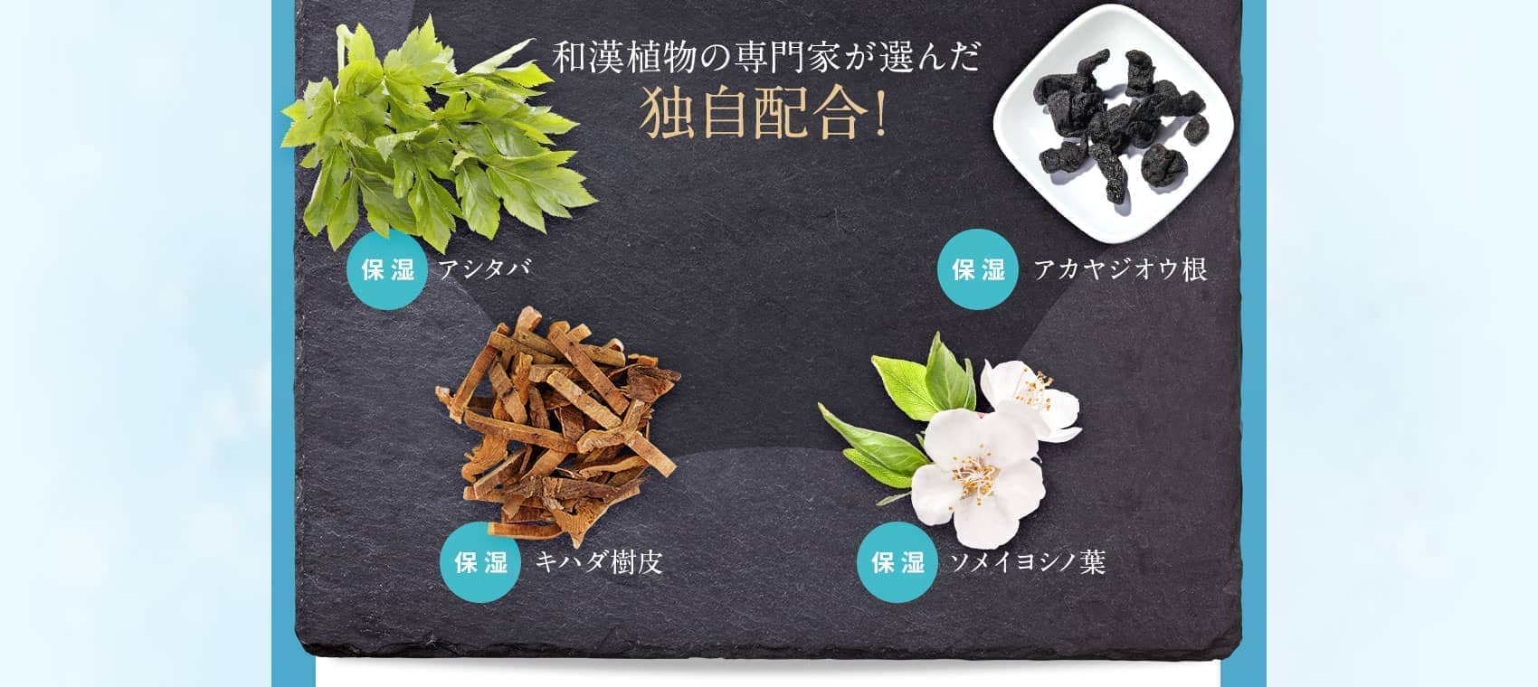 和漢植物の専門家が選んだ独自配合